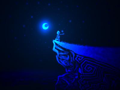 POEMAS SIDERALES ( Sol, Luna, Estrellas, Tierra, Naturaleza, Galaxias...) Noche%20mirando%20la%20luna-thumb-400x300-5165